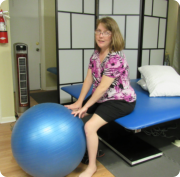 woman doing ball exercise